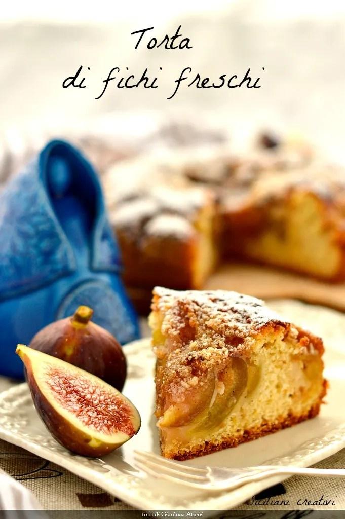 Figue fraîche et gâteau aux amandes