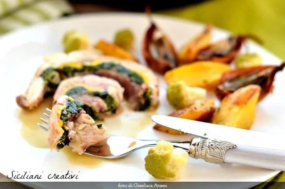 Coniglio ripieno alla siciliana