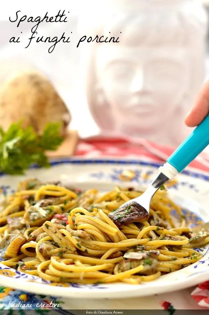 Pasta with porcini mushrooms