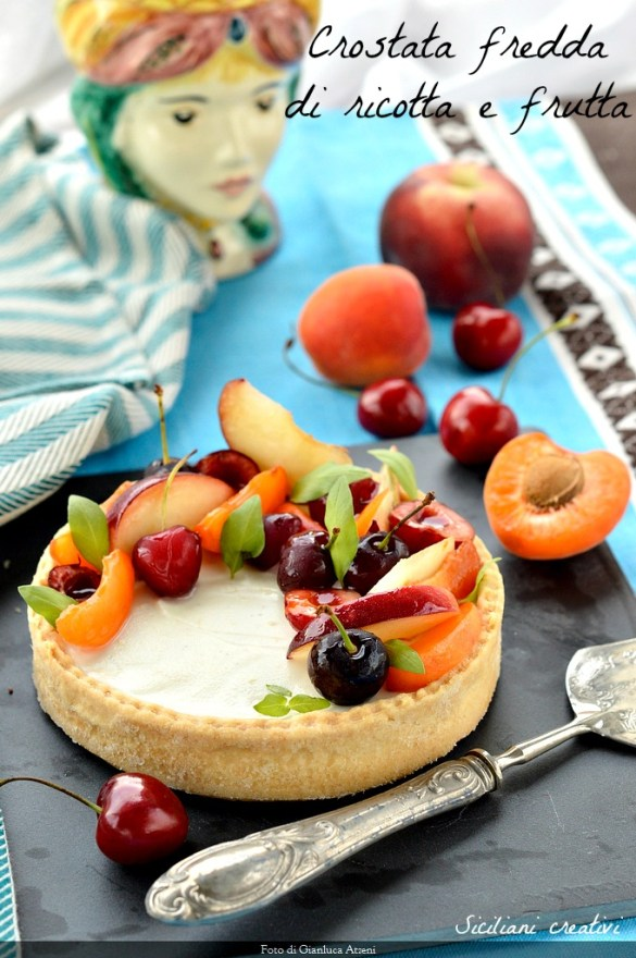cold ricotta tart and fruit