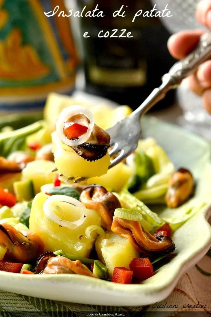 ensalada de patata y mejillones