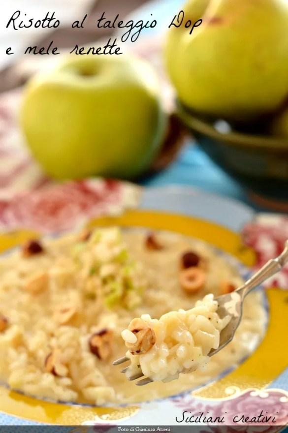 Risotto al taleggio Dop e mele renette: facile e cremosissimo