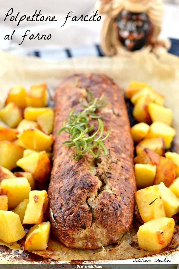 Pain de viande cuite sicilienne farcies