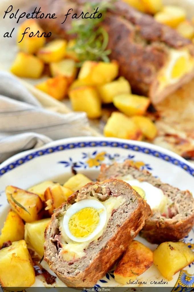Pain de viande farcie sicilienne, cuit au four