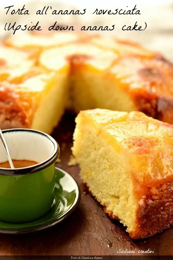 Torta all\'ananas rovesciata (Upside down pineapple cake)