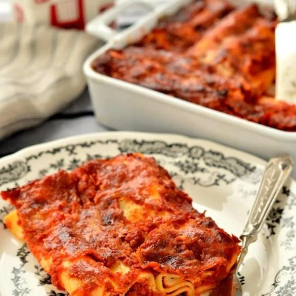 Cannelloni di ricotta e pomodoro