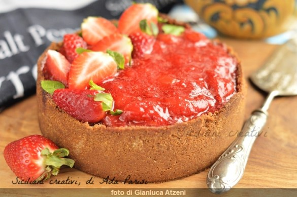 New York cheese cake con composta di fragole, ricetta originale