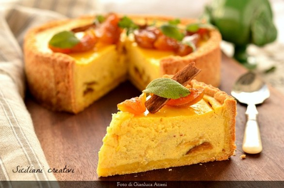 Cheese cake di ricotta con fichi sciroppati