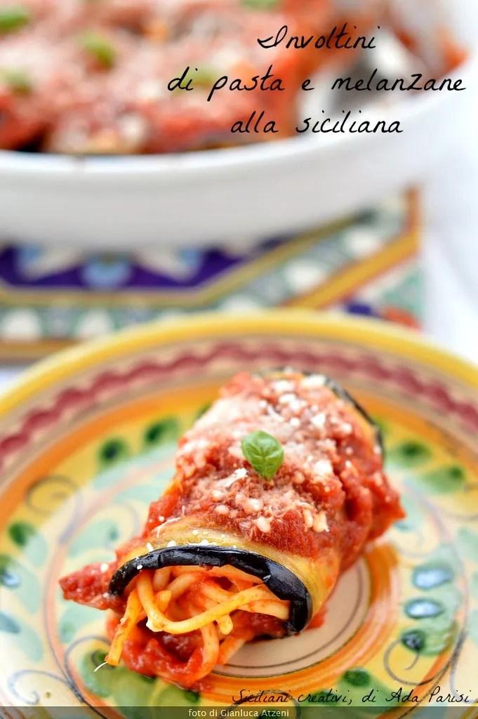 Involtini di pasta e melanzane fritte alla siciliana