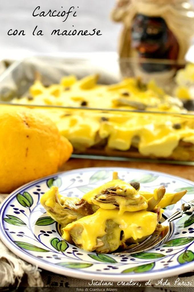 Alcachofas con mayonesa: deliciosa receta siciliana