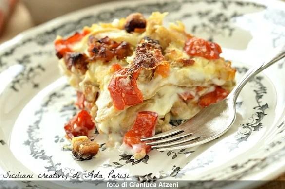 Lasagne con ragù di maiale e peperoni: robuste e gustose