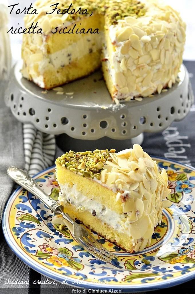 orta Fedora with ricotta and almonds, Sicilian recipe