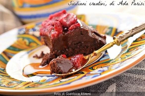 Fondente al cioccolato e lamponi, senza glutine