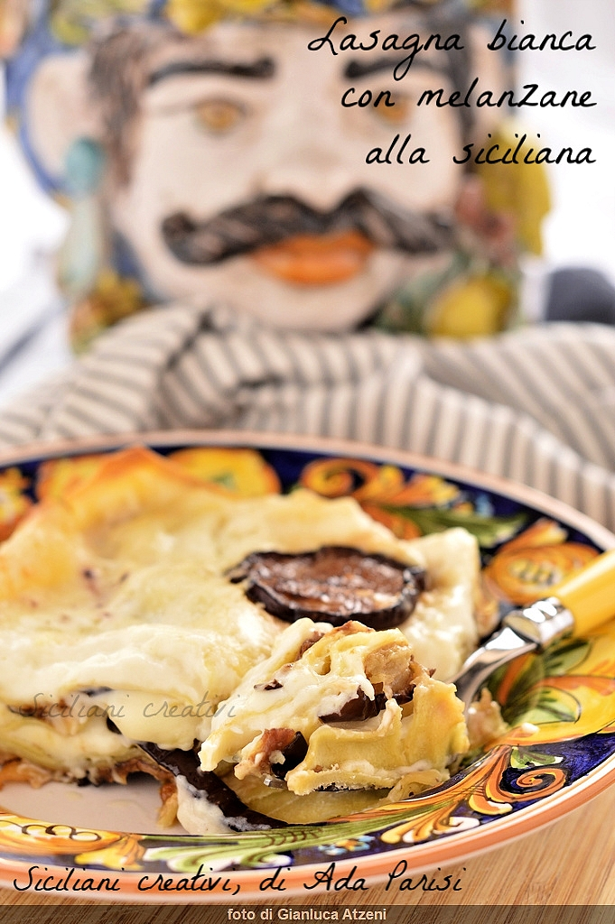 Lasagne blanche avec aubergine sicilienne: crémeux et facile
