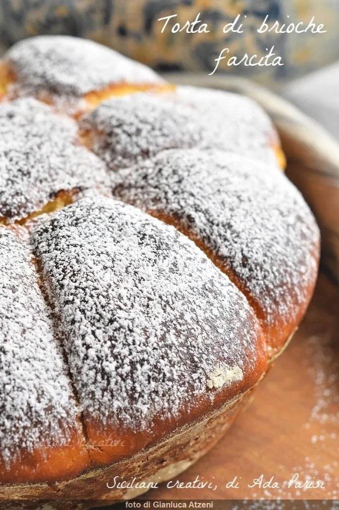 Gâteau farci de brioche