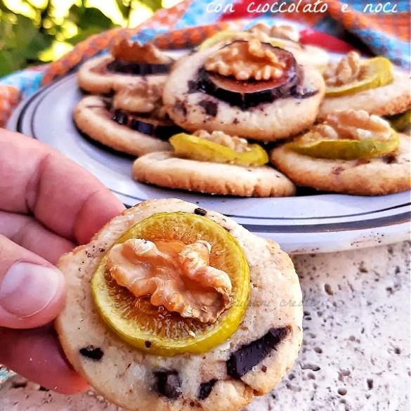 Biscotti ai fichi freschi e noci