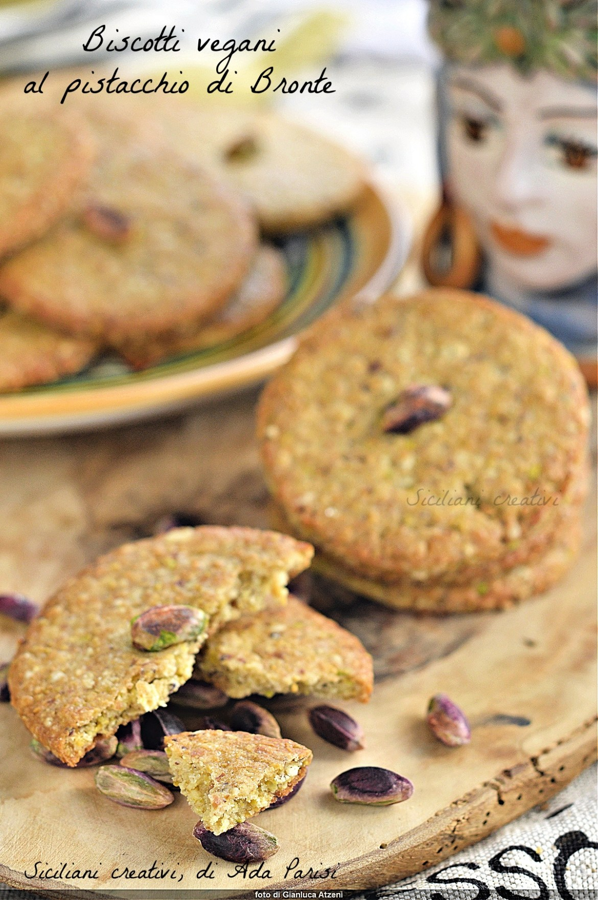 Biscotti vegani al pistacchio di Bronte