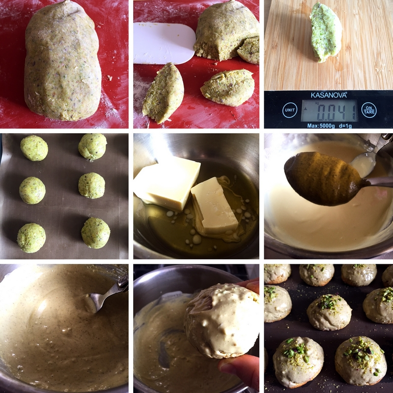 Soft pistachio biscuits, recipe step by step
