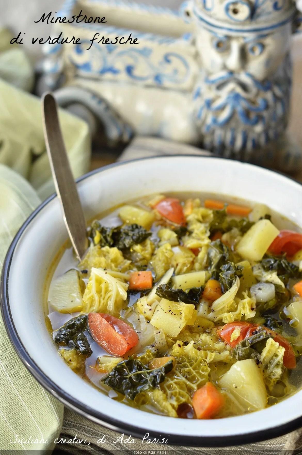 Minestrone de légumes frais