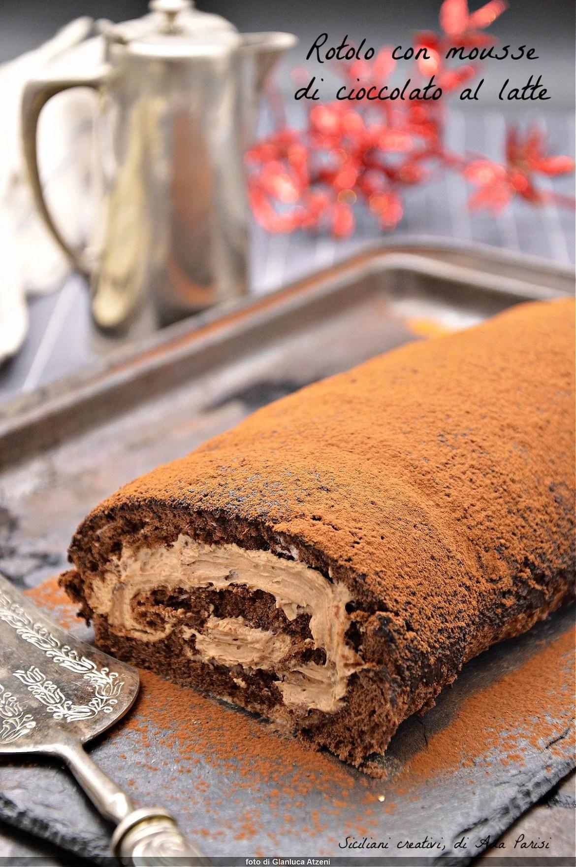 Rotolo al cacao con crema al cioccolato
