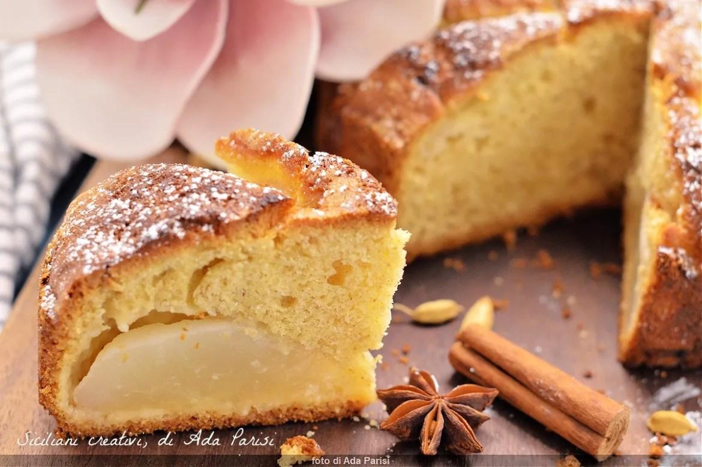 Torta morbida farro e pere