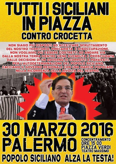 """Anche Siciliani Liberi alla Marcia del 30 Marzo: """"Tutti a Palermo per la libertà"""""""