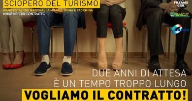 #Sicilia. Turismo, sciopero nazionale di Cgil, Cisl e Uil. Taormina tra le piazze simbolo