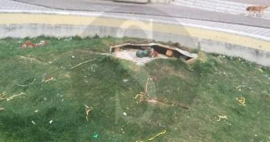 #Barcellona. Vandali in azione: deturpata la fontana di Idria e Longano