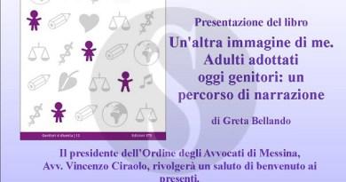 """#Messina. Genitori si diventa e la libreria Doralice presentano """"Un'altra immagine di me. Adulti adottati oggi genitori"""""""