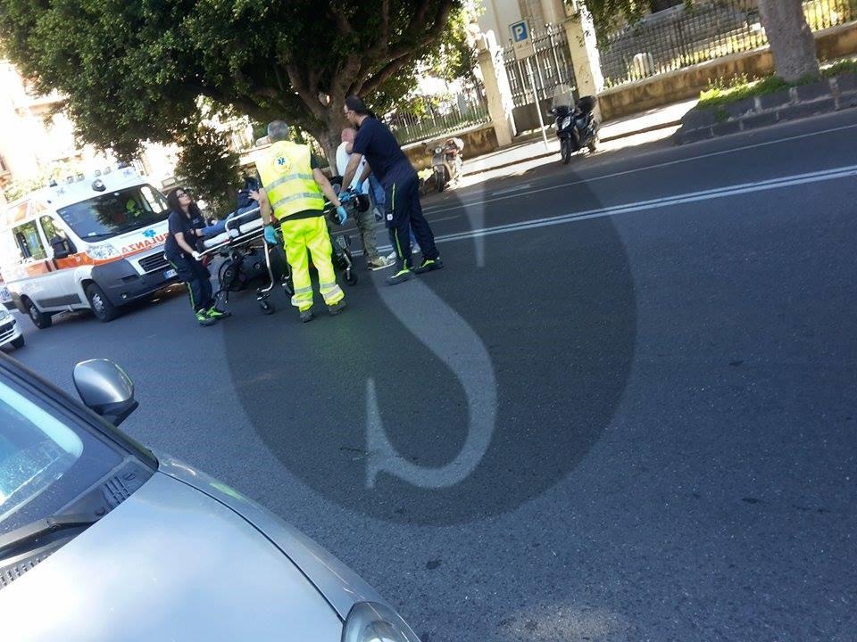 #Messina. Incidente in via Tommaso Cannizzaro, un ferito