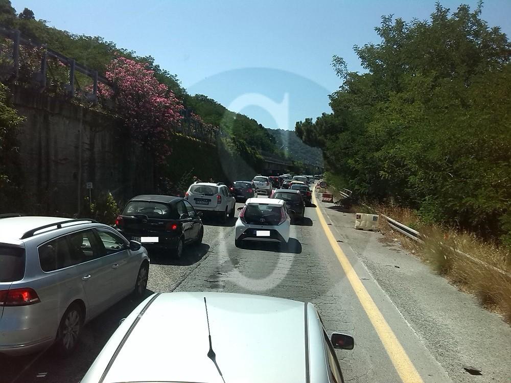#Messina. Lavori sulla A20, traffico in tilt