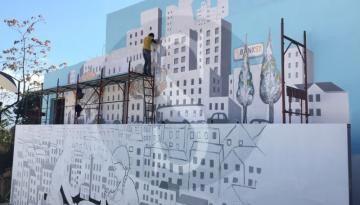 """#Messina. Al Palacultura inaugurazione del murale """"Germe"""" di MaCa"""