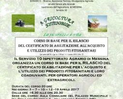 #Messina. Corso abilitante per l'acquisto e l'utilizzo di fitosanitari