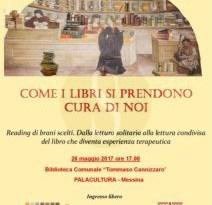 #Messina. Maggio dei Libri:Incontro di letturaterapia alla Biblioteca Comunale