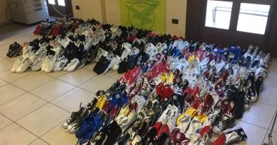 Cronaca. Catania, donate alla Croce Rossa Italiana oltre 300 paia di scarpe sequestrate dalla Guardia di Finanza