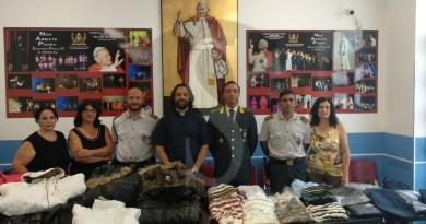 Cronaca. La Guardia di Finanza dona capi sequestrati alla Caritas di Barcellona Pozzo di Gotto