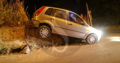 Incidente nella notte a Milazzo: violento impatto tra due auto in via Rio Rosso
