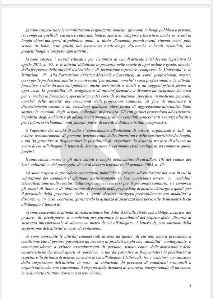 Coronavirus, dal 13 marzo giro di vite a Messina: i dettagli dell'ordinanza De Luca
