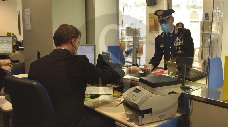 Consegna pensioni. Poste e Carabinieri