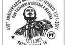 Messina, annullo filatelico speciale per don Giovanni D'Austria e la battaglia di Lepanto
