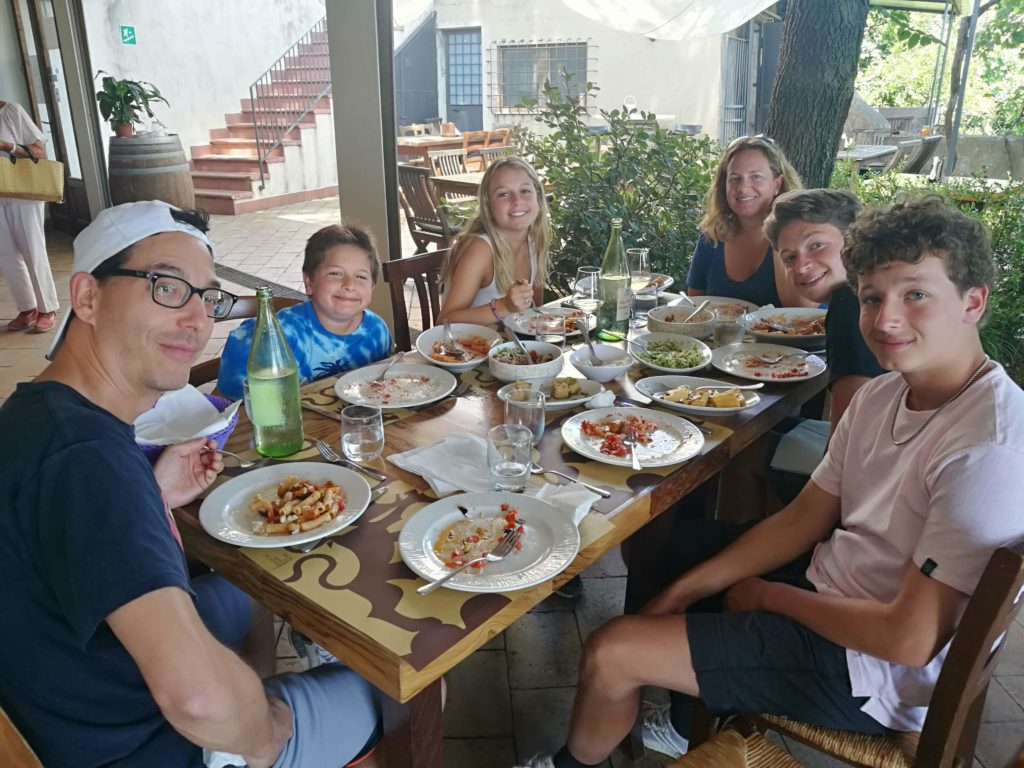 Some of our clients enjoying lunch at Murgo winery