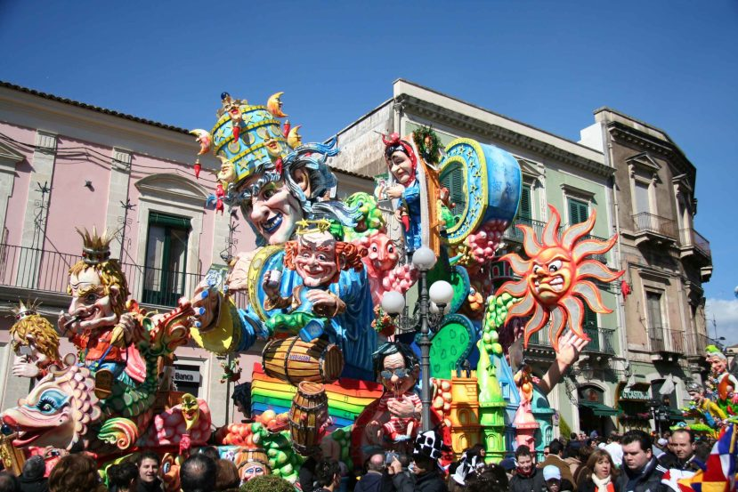 February is carnival time in Sicily and one of the most spectacular event is The Carnival of Acireale as well as the Sagra del Mandorlo in Fiore in Noto..