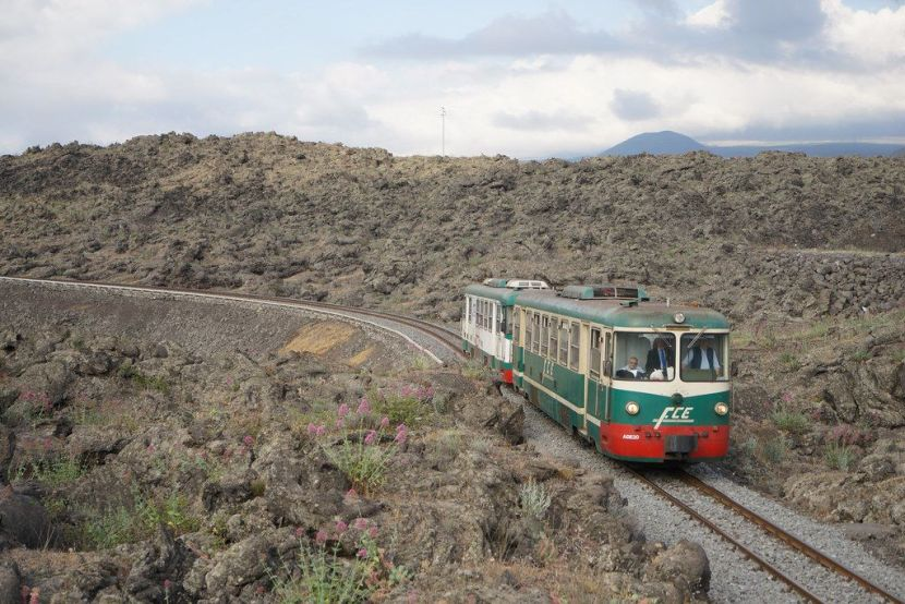 Many of the stations of the circumetnea railway were used by farmers to reach their farms from the towns where they lived are now starting-points for..
