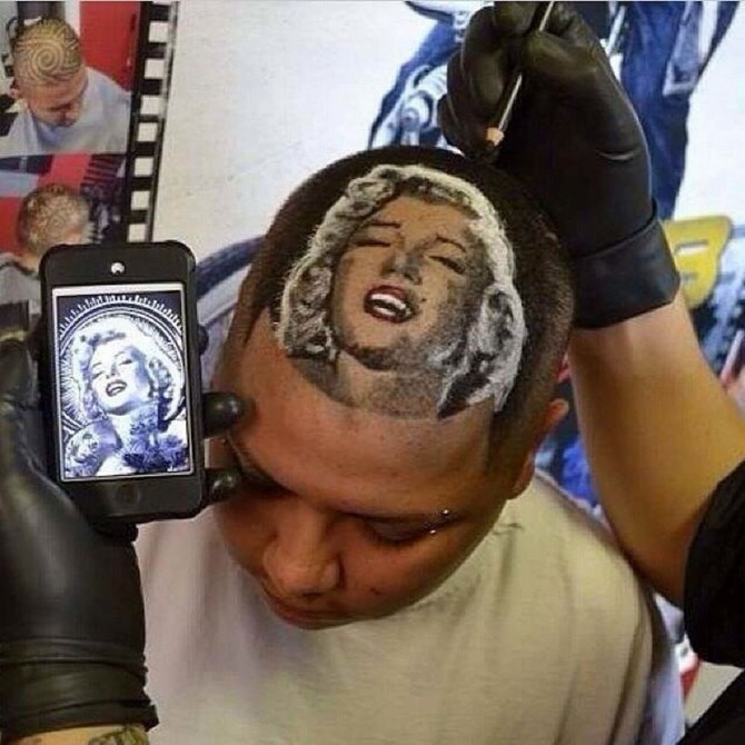 Would You Like Steve Jobs Face Shaved Into Your Head