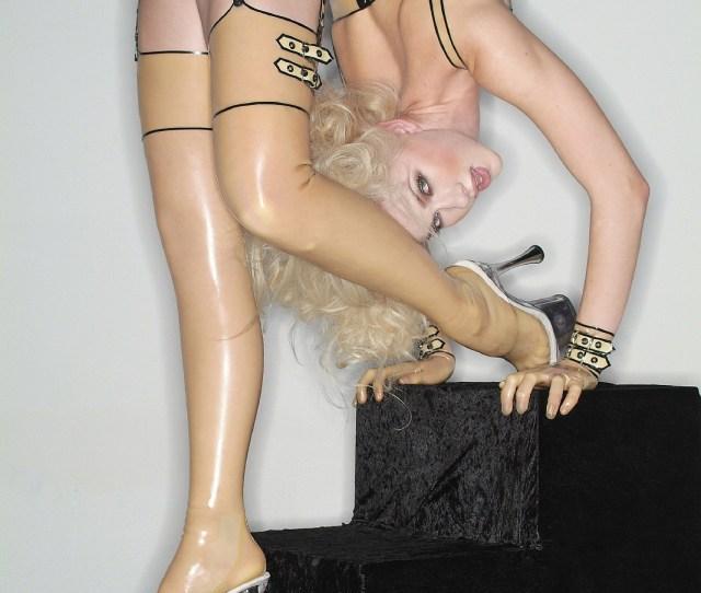 Julia Gunthel Flexible Woman Golden Stairs 2
