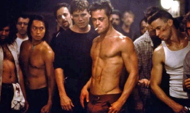 Image result for brad pitt fight club