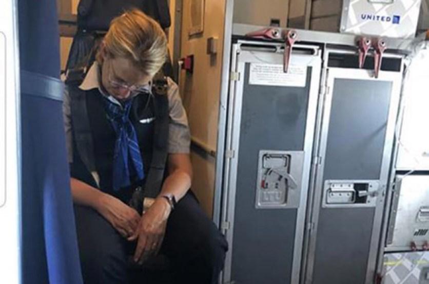 drunk flight attendant