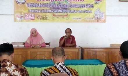 Bimbingan Teknis Penghitungan Suara dan Rekapitulasi Hasil Pemungutan Suara Pemilihan Gubernur dan Wakil Gubernur Jawa Tengah Tahun 2018
