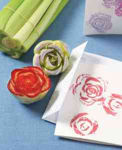 Occupational Therapy painting with vegetable pieces