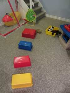 Occupational therapy activity-  obstacle course